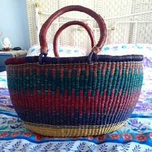 AFRICAN WOVEN Large Shopper Tote